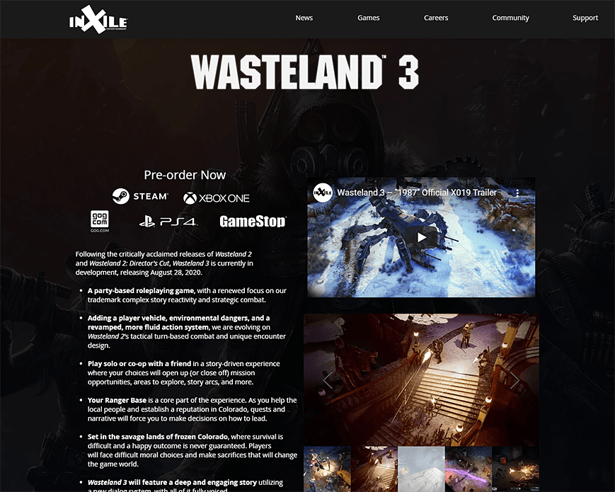 Wasteland 3 | inXile Entertainment PC画像