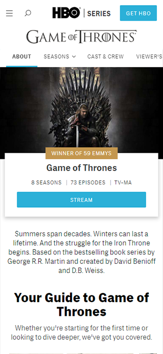 Game of the thrones SP画像