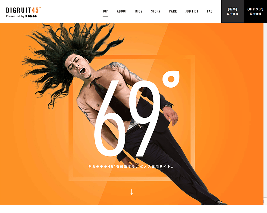 DIGRUIT45°(PONOS採用サイト)   ポノス株式会社 PC画像