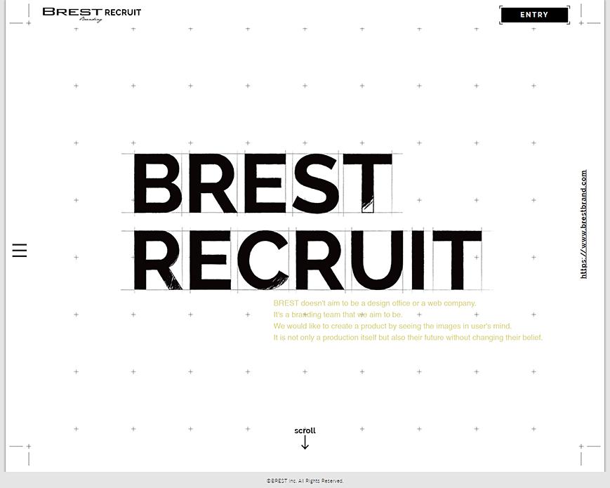 BREST株式会社 リクルートサイト PC画像