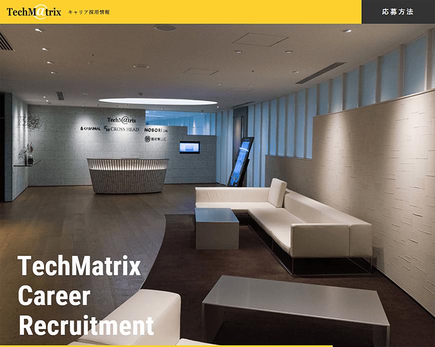 テクマトリックス株式会社 | キャリア採用サイト PC画像