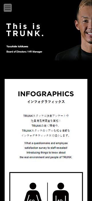 株式会社TRUNK(トランク)- RECRUIT(リクルート) - TRUNK co.ltd. SP画像