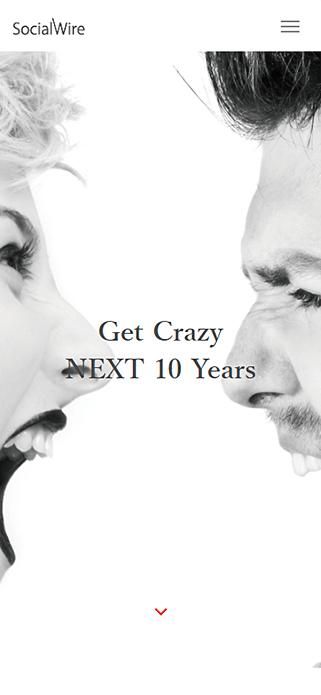 ソーシャルワイヤー株式会社 | 採用情報 – Get Crazy NEXT 10 Years – SP画像